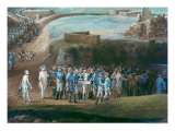 The Siege of Yorktown, 1st-17th October 1781, Detail of the Central Group, 1784 Giclee Print by Louis Nicolas van Blarenberghe