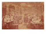 Interior of the Cafe Manouri, circa 1775 Giclée-Druck von Jacques Treton De Vaujas