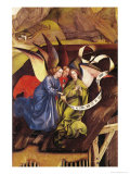 Nativity, Detail of Three Angels, circa 1425 Giclee Print by Master of Flemalle 