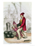 A Convict in the Toulon Penal Colony,  circa 1845 Giclee Print by Jules Achille Noel