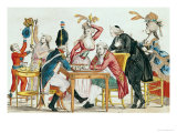 Caricature of Louis XVI Playing Chess with a Soldier of the National Guard Giclee Print