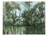 House on the Banks of the Marne, 1889-90 Giclee Print by Paul Cézanne