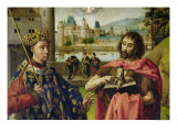 Parliament of Paris Altarpiece, Detail of St. Louis and St. John the Baptist Giclee Print