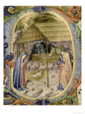"Corale / Graduale No.5 Historiated Initial ""P"" Depicting the Nativity Giclee Print by Rossello Franchi"
