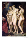 The Medici Cycle: Education of Marie de Medici, Detail of the Three Graces, 1621-25 Giclee Print by Peter Paul Rubens