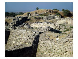 The Mound of Hissarlik, the Site of the Ancient City of Troy, 3000-1100 BC, Photographic Print