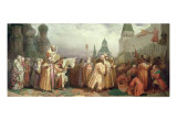 Palm Sunday Procession Under the Reign of Tsar Alexis Romanov 1868 Giclee Print by Viatcheslav Grigorievitch Schwarz
