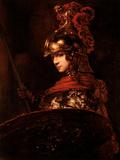 Pallas Athena Or, Armoured Figure, 1664-65 Giclée-tryk af Rembrandt van Rijn