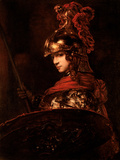 Pallas Athena Or, Armoured Figure, 1664-65 Gicledruk van Rembrandt van Rijn