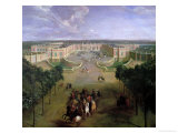 View of the Grand Trianon, 1722 Giclee Print by Pierre-Denis Martin