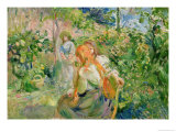 In the Garden at Roche-Plate, 1894 Giclee Print by Berthe Morisot