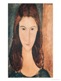 Portrait of a Young Girl Premium Giclee Print by Amedeo Modigliani