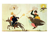 "Caricature of the ""Hundred Days"", the Hasty Departure and the Unexpected Return, 1815 Giclee Print"