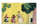 Rama and Lakshmana Accompanied by Visvamitra, from the Ramayana, circa 1750 Giclee Print