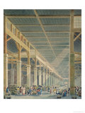 View of &quot;La Halle aux Vins&quot;, Before 1808 Giclee Print by Auguste Hibon