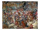 The Battle of Pavia. the Capture of Francois I 24th February 1525 Giclee Print by Bernard van Orley