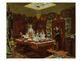 Interior of Monsieur Sauvageot's Collection Room, 1856 Giclee Print by Arthur Henri Roberts