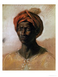 Portrait of a Turk in a Turban, circa 1826 Gicl&#233;e-Druck von Eugene Delacroix
