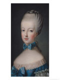 Portrait of Marie-Antoinette de Habsbourg-Lorraine after the Painting by Joseph Ducreux 1770 Giclee Print by Jean Baptiste Charpentier