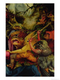 Demons Armed with Sticks from the Isenheim Altarpiece, C,1512-16 Giclee Print by Matthias Grünewald