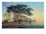 Arab Oasis, 1853 Giclee Print by Narcisse Berchere