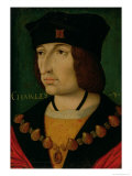 Portrait of Charles VIII King of France Giclee Print by Jean Bourdichon