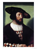 Portrait of Kristian II Giclee Print by Bernart Van Orley
