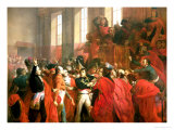 Bonaparte and the Council of Five Hundred at St. Cloud, 10th November 1799, 1840 Premium Giclee Print by Francois Bouchot