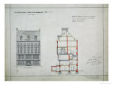 Design for a House for W. Flower Esq, Chelsea Embankment, London, 1876 Giclee Print by Richard Norman Shaw