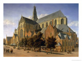 Church of St. Bavo in Haarlem, 1666 Giclee Print by Gerrit Adriaensz Berckheyde
