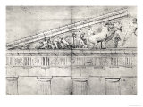 Study of a Pediment from the Parthenon Giclee Print by Jacques Carrey