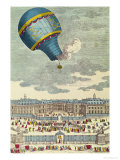 The Ballooning Experiment at the Chateau de Versailles, 19th September, 1783 Giclee Print