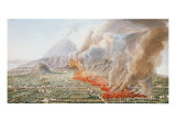 View of an Eruption of Mt. Vesuvius Which Began on 23rd December 1760 and Ended 5th January 1761 Giclee Print by Pietro Fabris