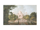 The Taj Mahal, Agra, from the Garden, Published 1801 Giclee Print by Thomas & William Daniell