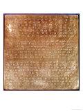 Plaque of Darius I 550-500 BC Giclee Print