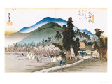 "Ishiyakushi, from the Series ""53 Stations of the Tokaido"", 1833-34 Giclee Print by Ando Hiroshige"