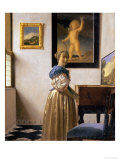Lady Standing at the Virginal, circa 1672-73 Giclee Print by Jan Vermeer