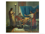 Virgil Reading the Aeneid to Livia, Octavia and Augustus, circa 1812 Giclee Print by Jean-Auguste-Dominique Ingres