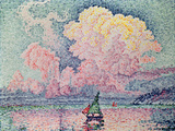 Antibes, the Pink Cloud, 1916 Premium Giclee Print by Paul Signac