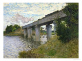 The Railway Bridge at Argenteuil, circa 1873-4 Premium Giclee Print by Claude Monet