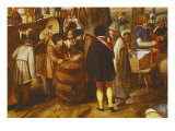 Flemish Fair, Detail of Men Playing Dice Giclee Print by Martin Van Cleve