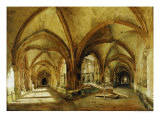 The Cloisters of St. Wandrille, circa 1825-30 Giclee Print by Louis Eugene Gabriel Isabey