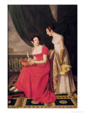 Madame Riesener and Her Sister, Madame Longroy, 1802 Giclee Print by Henri Francois Riesener