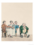 Qui Dort Dine, Caricature of a Man Sleeping after Dinner Giclee Print by Jean Francois Garneray