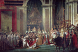 Consecration of the Emperor Napoleon and Coronation of Empress Josephine, 2nd December 1804, 1806-7 Gicleetryck av Jacques-Louis David