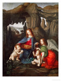 Madonna of the Rocks Giclee Print by  Leonardo da Vinci