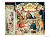 Den sidste nadver Giclée-tryk af Pietro Lorenzetti