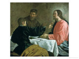 Supper at Emmaus, 1620 Gicléedruk van Diego Velázquez