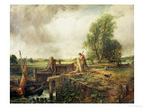 A Boat Passing a Lock Giclee Print by John Constable