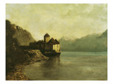 Chateau de Chillon, 1874 Giclee Print by Gustave Courbet